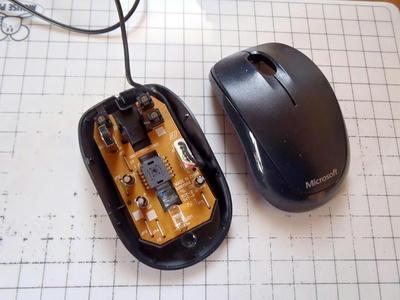 Microsoft Compact Optical Mouse 500上部カバー外し
