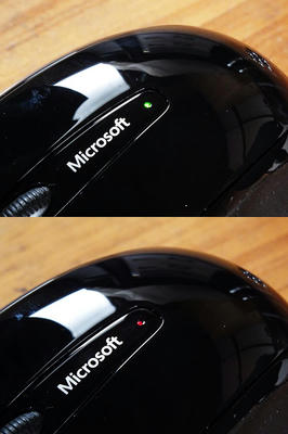 Microsoft Wireless Mobile Mouse 3500 バッテリーインジケーター