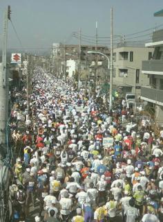 青梅マラソンはすごい人の数だった