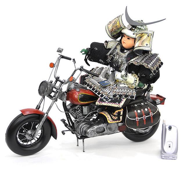 五月人形わんぱく大将バイク飾りセット