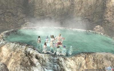 温泉拠点でのんびり