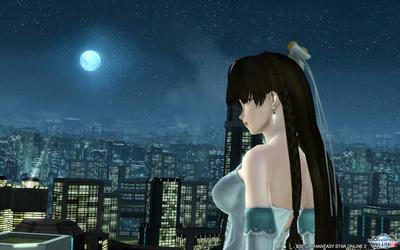 月を眺めて