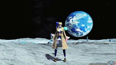 月面の記念撮影では定番ですよね