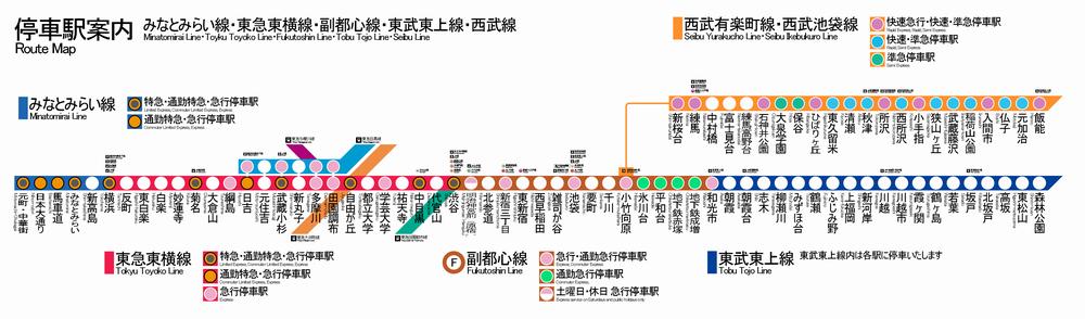 路線図(東急目黒線・東急東横線・みなとみらい線 …