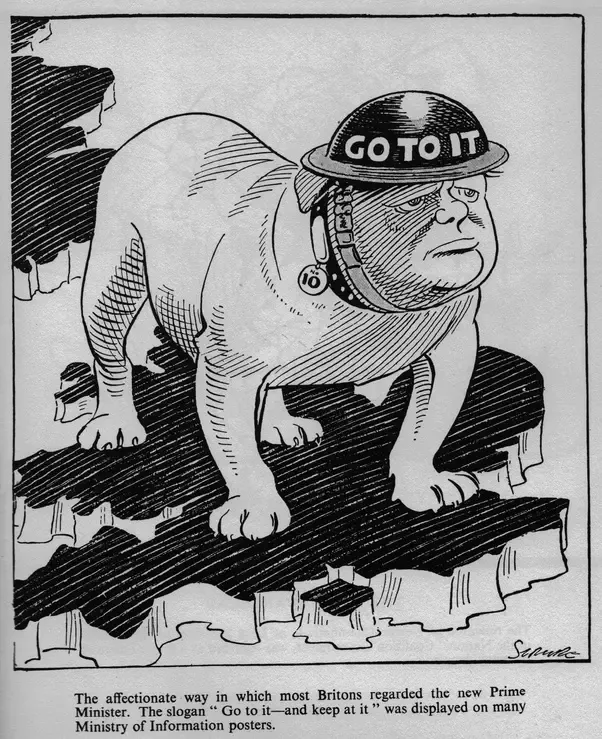 Churchill as Bulldog