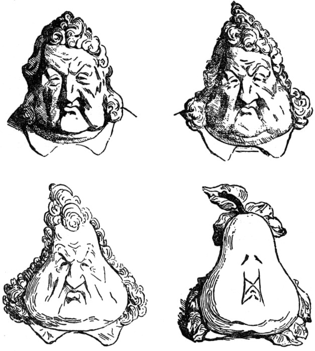 Louis Philippe as Pear
