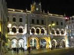 夜のロシオ(Rossio)駅