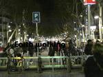 夜のランブラス通り( La Rambla)