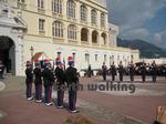 モナコ(Monaco)の大公宮殿での交代式