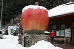 道の駅『はが』の巨大リンゴ