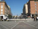 ピサ中央駅の前の広場