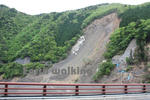 道の駅『十津川郷』周辺の土砂災害の傷跡