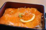 道の駅『びわ湖大橋米プラザ』の鮭トロ丼