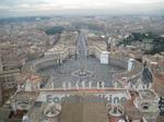 サン・ピエトロ大聖堂(St. Peter's Basilica)からのバチカン広場の眺め
