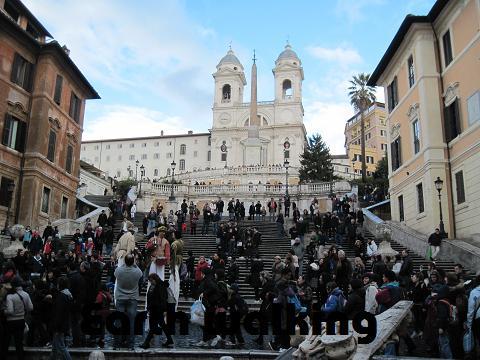 スペイン広場(Piazza di Spagna)のスペイン階段(Spanish Steps)