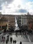 スペイン階段(Spanish Steps)の上からのローマの景色
