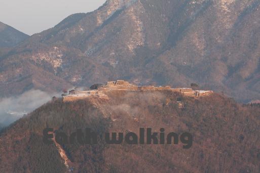 『立雲峡』から望む『竹田城』