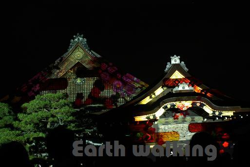 京の七夕 二条城プロジェクトマッピング