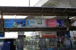 バンコクの駅の日系広告