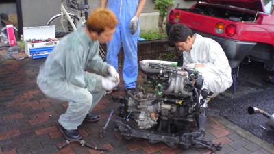 AZ-1 エンジン組み上げ