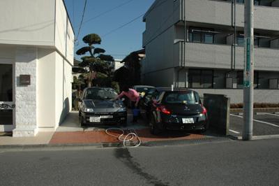 めずらしく洗車