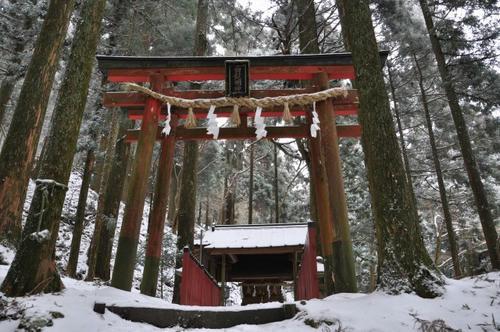 京都 初詣 雪山 冬山 愛宕山 愛宕神社