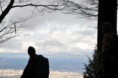京都 初詣 冬山 愛宕山 愛宕神社 ビュースポット