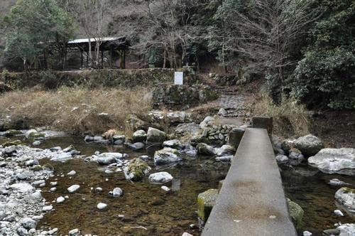 京都 清滝川 京都一周トレイル 雪 冬 橋