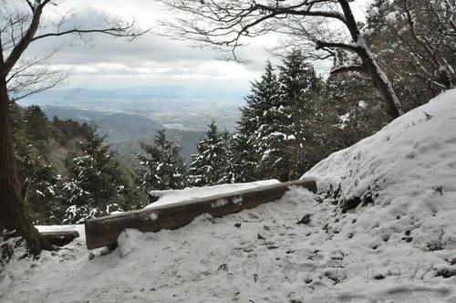 京都 愛宕山 清滝 初詣 雪