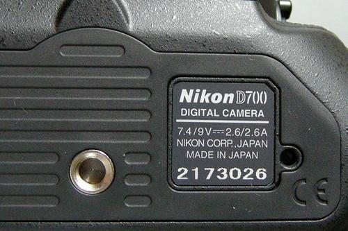 D700銘板
