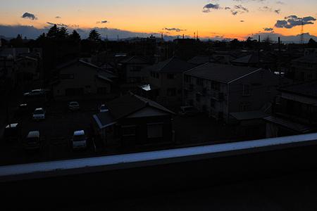 停電の夕暮れどき@熊谷