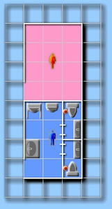 日本橋三越本店 本館6階北西トイレ見取り図
