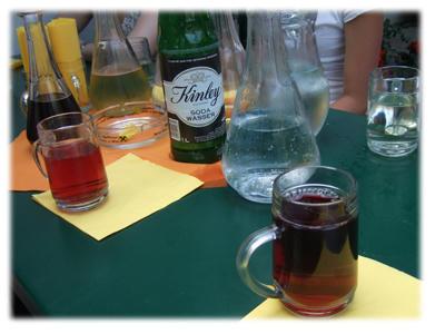 ワインと炭酸水
