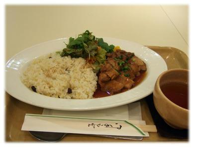 七穀米と鶏の照焼