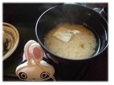胡麻豆腐の味噌汁