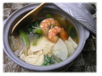 湯葉と蕪の鍋