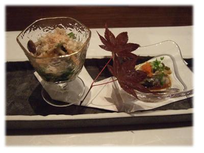 おひたしと酢牡蛎
