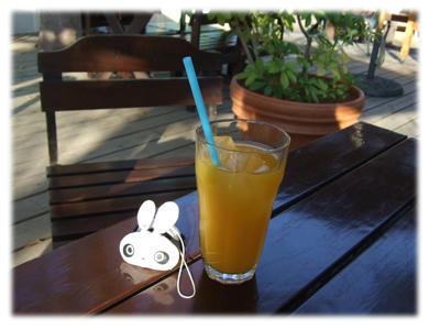 グレープとマンゴーのジュース