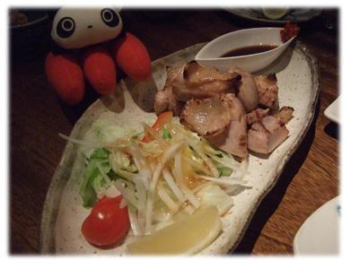 地鶏の岩塩焼き