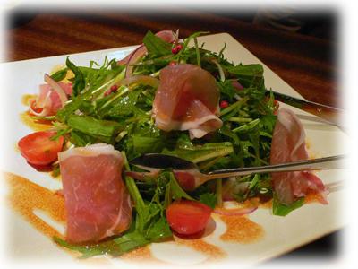 生ハムと水菜のサラダ