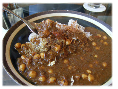 ひよこ豆カレー2