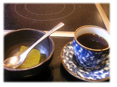 マンゴーゼリーとコーヒー