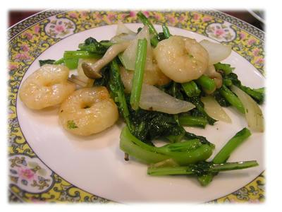 えびとおいしい菜の炒め物2