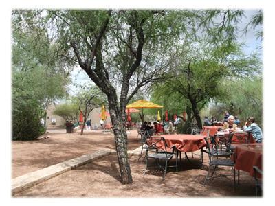 砂漠植物園のカフェ