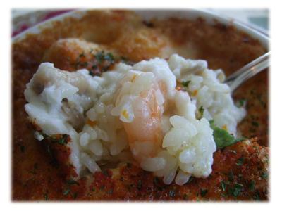 鶏肉と海老のドリア2