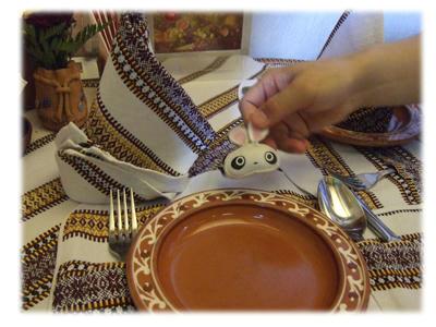 ロシア料理のお皿