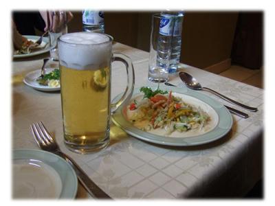 サラダ&ビール