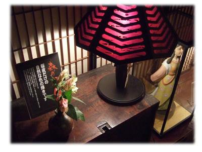 桜の樹皮のランプ