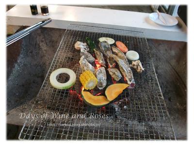 牡蛎を焼きます