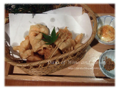 海老と京芋の天ぷら
